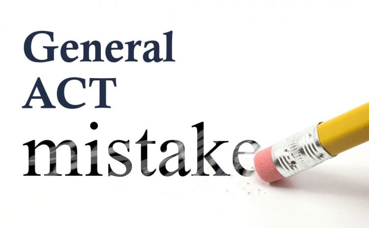 Common ACT Mistakes