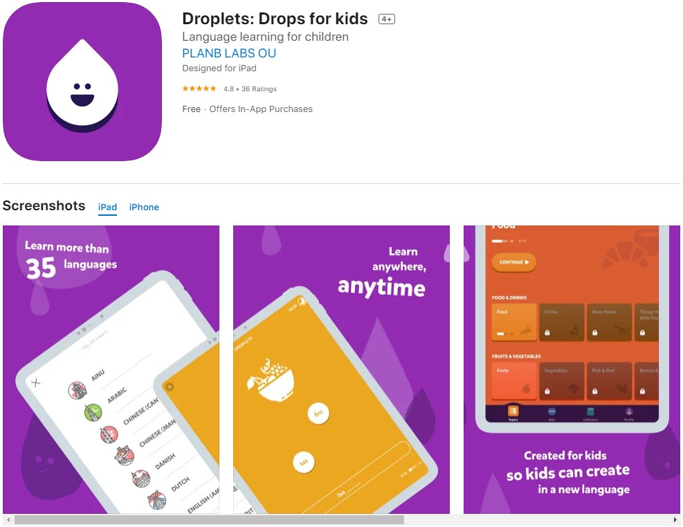 Droplets: Drops for kids